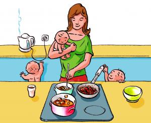 Úrazy dětí v kuchyni