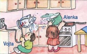 Opaření v kuchyni